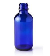 120 ML (22mm Neck Finish) Boston Round Cobalt Blue Glass Bottle - 1 Unit @ $1.25 Per Bottle