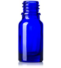 10 ML Cobalt Blue Glass Euro Dropper Bottle With 18 Mm Neck Finish - 1 Unit @ $0.50 Per Bottle