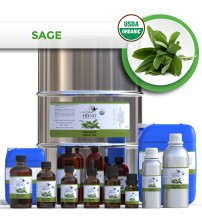 Sage Officinalis Essential Oil, ORGANIC .