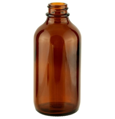 120 ML (22mm neck finish) Boston Round Amber Glass Bottle - 128 units @ $0.45 per bottle